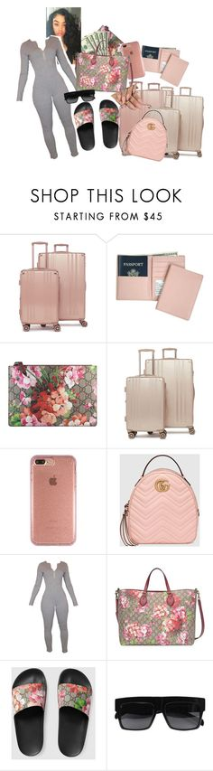 """""""We out"""" by mimi-nubia-queen ❤ liked on Polyvore featuring CalPak, Royce Leather, Gucci and Speck"""