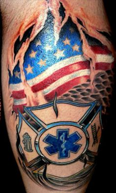 Emt firefighter. One day I hope to be a firefighter. I'm already an emt