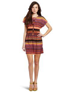 Kensie Womens Swirly Stripes Dress