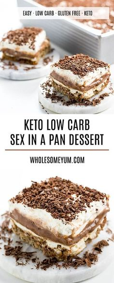 Sex in a Pan Dessert Recipe (Sugar-free, Low Carb, Gluten-free) - Learn how to make sex in a pan dessert - easy and sugar-free! And, this chocolate sex in a pan recipe is one of the best low carb…More 8 Awesome Keto Diet Friendly Snacks & Treat Recipes Sex In A Pan Dessert Recipe, Dessert Sans Gluten, Bon Dessert, Dessert Aux Fruits, Low Carb Deserts, Low Carb Sweets, Easy Low Carb Dessert, Easy Healthy Deserts, Gluten Free Deserts Easy