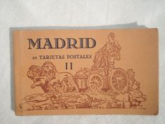 Vintage Old Illustrated Postcards from Madrid, Spain, 1940's  Google Image Result for http://img2.etsystatic.com/002/0/7053556/il_fullxfull.354917322_1hpe.jpg