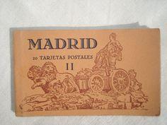 Vintage Old Illustrated Postcards from Madrid, Spain, 1940's  Google Image Result for http://img2.etsystatic.com/002/0/7053556/il_fullxfull.354917322_1hpe.jpg