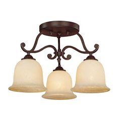 Millennium Lighting�20-in W Rubbed Bronze Semi-Flush Mount Light