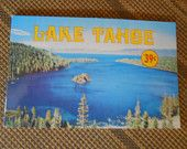Vintage Lake Tahoe Post Card Souvenir Booklet with 10 Miniature Cards for Scrapbooking, Collage, Card, or For Your Personal Collection  by CheekyBirdy on Etsy