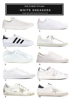 To buy The 10 Best Stylish White Sneakers for Women in 2019 Women's Clothing - Today's Fashions Toda White Casual Sneakers, Best White Sneakers, White Fashion Sneakers, Womens Casual Sneakers, White Sneakers Outfit Spring, Summer Sneakers, Leather Sneakers, White Tennis Shoes, Tennis Shoes Outfit