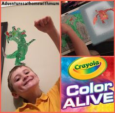 Adventures at home with Mum: Interactive Colouring-in characters with Crayola Color Alive