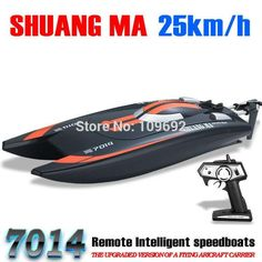 SHUANG MA DH7014 High Speed 2.4G 25KM/H Racing RC Boat Electric Remote Controlled Speedboat with Super water-cooled motor