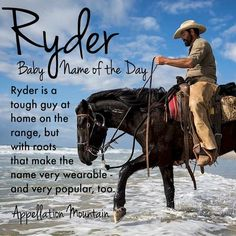 Rugged Ryder Is A #BabyNameoftheDay That Has Gone From Surname To Modern  Favorite.