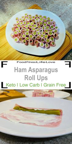 Your family will probably eat these Ham Asparagus Rolls Ups faster than you can make them. A savory appetizer with ham, cream cheese and pickled asparagus. Diabetic Breakfast Recipes, Quick Keto Breakfast, Eat Breakfast, Keto Recipes, Healthy Recipes, Breakfast Cereal, Breakfast Gravy, Protein Recipes, Breakfast Dishes