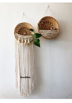 cotton yarn crochet wall art rattan flower basket home decor garden decor upside down dutch braid hairstyles how to upside down dutch braids upside down dutch braids Crochet Wall Art, Bead Crochet, Macrame Art, Macrame Projects, Macrame Knots, Crochet With Cotton Yarn, Macrame Plant Hangers, Paperclay, Macrame Patterns