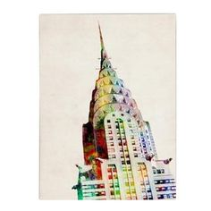 @Overstock.com - Michael Tompsett 'Chrysler Building' Canvas Art - Artist: Michael TompsettTitle: Chrysler BuildingProduct type: Giclee, gallery wrapped  http://www.overstock.com/Home-Garden/Michael-Tompsett-Chrysler-Building-Canvas-Art/8292715/product.html?CID=214117 $45.89