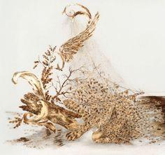Los metálicos y dorados animales de Sarah A. Smith Estas pinturas son obra de la estadounidense Sarah A. Smith.  Utiliza para crear sus co...