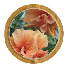 Gorgeous Hibiscus Flower Pair Cheese Board