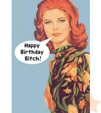 Postcard ''Happy Birthday Bitch''