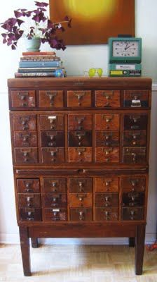 A great index file cabinet. This one would be perfect for me!