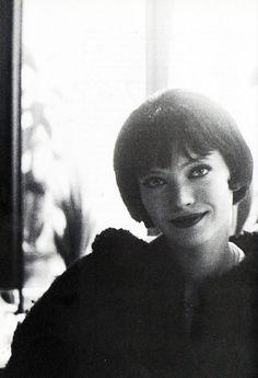 Anna Karina on the set of Vivre Sa Vie (1962, dir. Jean-Luc Godard)