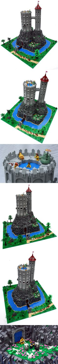 Lego Castle and jacuzzi :) All Lego, Lego Modular, Cool Lego Creations, Awesome Lego, Lego Storage, Lego Design, Lego Worlds, Lego Architecture, Lego House