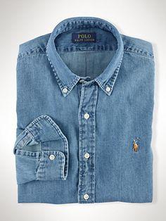 Slim Fit Denim Shirt. See more. Chambray Sport Shirt - Oxford Shirts Casual  Shirts - Ralph Lauren UK