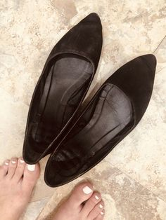 08074c922db2 VERY WELL WORN Womens Shoes Charlotte Russe Black Ballet Flats Size 6 # fashion #clothing