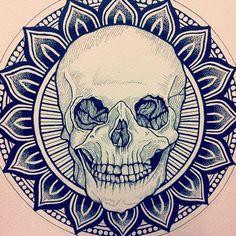 Skull Done byDale Sarok.