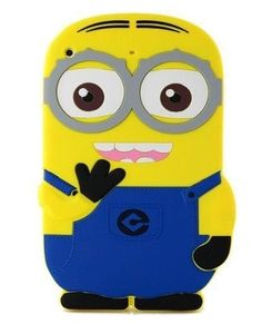 Rainbow Despicable Me Cartoon Minions Pattern Soft Silicone Gel Rubber Case Skin Protector Cover for IPAD Mini-hair-Blue Cute Ipad Cases, Ipad Air 2 Cases, Ipad Mini Cases, Ipad Mini 2, Cute Cases, Cute Phone Cases, Iphone 7 Cases, Minion Pattern, Ipad 2 Case