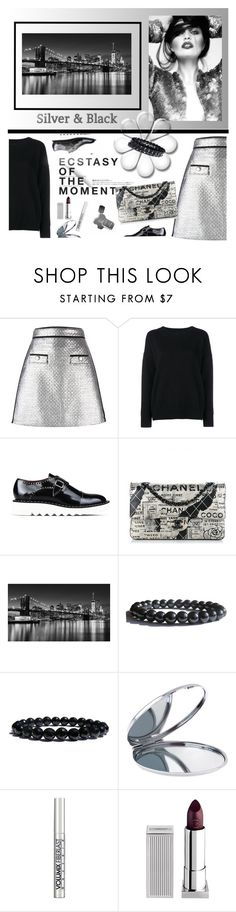 """""""Silver & Black Fun Fashion!"""" by zenstore ❤ liked on Polyvore featuring MSGM, Frame Denim, STELLA McCARTNEY, Hedi Slimane, Chanel, Miss Selfridge and Lipstick Queen"""