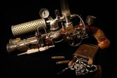 Steampunk Ghost Blaster : steampunk gun pistole raygun (Bild 1/14)