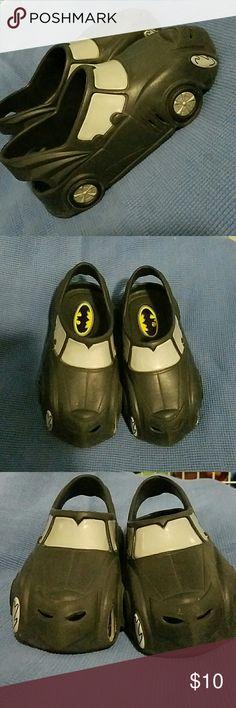Batman kids crocs Lightweight, batman, black mobile cars (= CROCS Shoes Slippers
