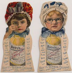 Hoyt and Company Victorian Trade Cards, distributed as bookmarks. Vintage Tags, Vintage Ephemera, Vintage Love, Vintage Paper, Vintage Artwork, Vintage Photos, Vintage Seed Packets, Old Advertisements, Retro Pattern