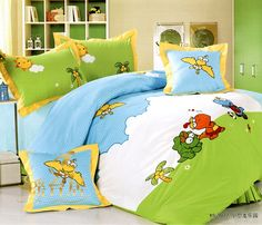 Little Dinosaur Park Army Green Dinosaur Bedding Set Dinosaur Bedding, Dinosaur Park, Green Pattern, Cartoon Styles, Bed Room, Duvet Cover Sets, Army Green, Kids Bedroom, Bedding Sets