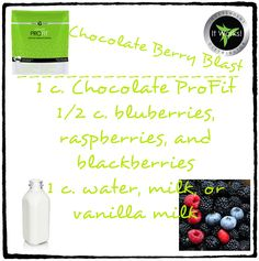 Chocolate Berry Blast Ultimate ProFit Shake Recipe