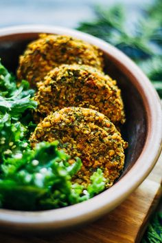 This winter kale falafel is a quick and easy meal to enjoy during the winter months, with hardy winter kale! Vegan and gluten-free.