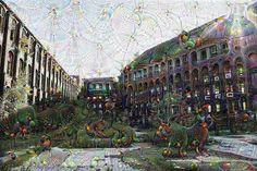 The factory #surreal #deepdream #deep #dream #deepdreamgenerator #googledeepdream #urbex #urbanexploration #factory #lensflare #sky #nature #plants #windows #abandoned #decay #deepdreammachine by thesurrealpug