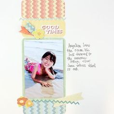 Summer Addition #Scrapbooking Layout from Creative Memories  http://www.creativememories.com