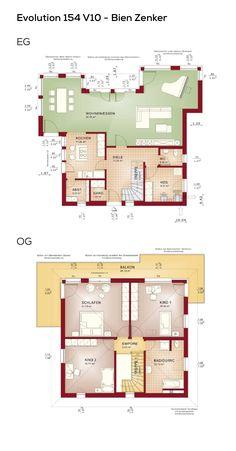 grundriss stadtvilla 4 zimmer ca150 qm wohnflche erdgeschoss obergeschoss - Mehrfamilienhaus Grundriss Beispiele