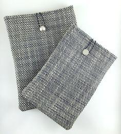 Wowen Ipad Mini Case,Black and White Ipad Sleeve,Black Ipad Cover,Woven Fabric Ipad Case,White ipad case,Ipad Mini Case,Black Book Case by GFMODE on Etsy