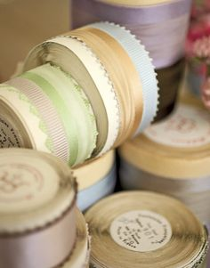 vintage ribbon I love vintage ribbon I could have a whole room just for it.