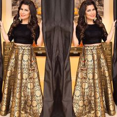 Checkout this black brocade lehenga choli  Product Info : Brocade pure silk semi stitch Lehegha up to waist size 38 Length 42  Stitching style box pleated  Blouse unstitched fabric raw silk  1 meter Dupatta - NO❌ Colors can be changed  Delivery time - 7 days  Price : 3400 INR Only ! #Booknow  CASH ON DELIVERY Available In India !  World Wide Shipping ! ✈  For orders / enquiry  WhatsApp @ +91-9054562754 Or Inbox Us , Worldwide Shipping ! ✈ #SHOPNOW  #indianwear #ethn..