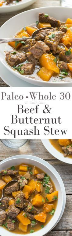 My Beef and Butternut Squash Stew is so easy to cook and it's also Paleo, Whole 30, Gluten Free and Low Carb! Made from scratch in one pot with simple ingredients, a great tasting meal that your whole family will love!