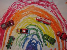 Tuesday, February 28, 2012Creating Rainbows With Toy Cars   Today I'm over at PreK + K Sharing Blog.  Please check out my post: Creating Rainbows With Toy Cars here.