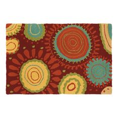 Sundew Crimson Indoor/Outdoor Area Rug
