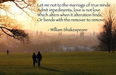 Valentinees Day Poems/love is not love when it alteration finds | William Shakespeare Short Poems | Short Poems.org
