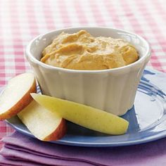 Try something new by packing this sweet Pumpkin Dip for school lunch! | Cooking Light