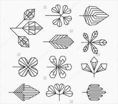 Hipster geometrical leaves, set of isolated symbols, logos. Hipster geometrical leaves, set of isolated symbols, logos. Logo And Identity, Identity Design, Logo Branding, Brand Identity, Geometric Logo, Geometric Designs, Geometric Shapes, Geometric Nature, Geometric Symbols
