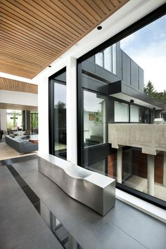 Space Connecting The Front And Rear Of The Hannon Richards Ferrier_webb  Residence Located Off Of Elbow. Architecture ...