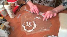 Родина Наталья -Короб с ландышами, работа с пластикой.