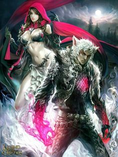 Red riding hood & big bad wolf