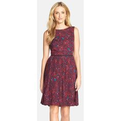 Adrianna Papell Print Woven Fit