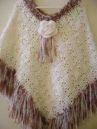 Resultado de imagen para ponchos a crochet con cuello