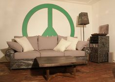 Sofa, Hi-Fi cupboard and Lamp  #lamp , #sofa